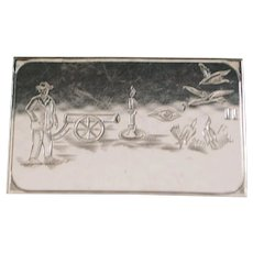 German 835 Silver Pictogram  Case - 1920