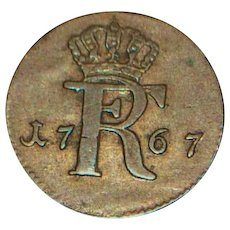 Prussia 1/48 Thaler Coin - 1767 A -  XF