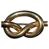 Swiss Boucher Love Knot Bar Brooch - 1940's