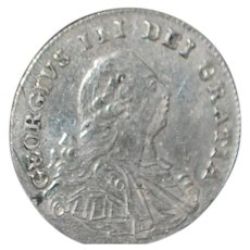 English George III 4 Pence Maundy Silver Coin - 1800
