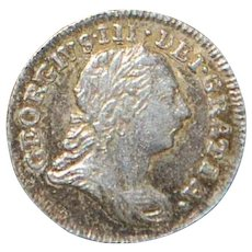 English Georgian Two Pence Maundy Silver Coin - 1784