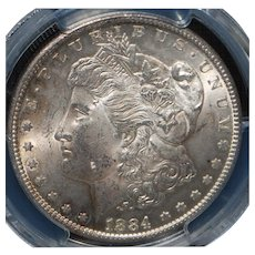 Morgan Silver Dollar - 1884 - Carson City - MS63 - Slabbed