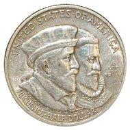United States Half Dollar - Huguenot Walloon - 1924 - XF