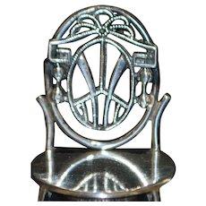 Sterling Silver 3-piece Miniature Furniture Set - 1920's