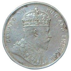 Straits Settlement Dollar Coin - 1904 - B