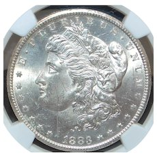 United States Morgan Dollar, Carson City, 1883 - MS-63 - Slabbed