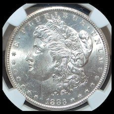 United States Morgan Dollar, Carson City, 1883 - MS-63 - Slabbed