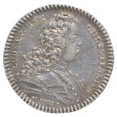 French Louis XV Silver Jeton Coin, c. 1730