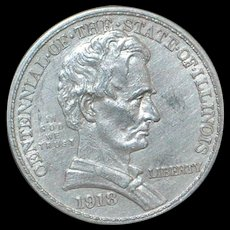 United States Lincoln 1/2 Dollar Silver Coin - 1918 - Uncirculated