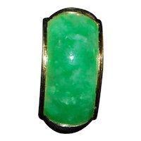 Pair of Apple Green Jade Earrings