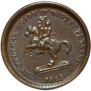Civil War Token- Washington on a Horse - 1863
