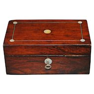 English Victorian Rosewood MOP Box - 1850-60