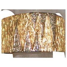 14K Custom Retro Diamond and Gold Band - 1960's