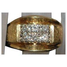 14K Heavy  Diamond Ring - 1960's