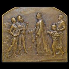 Bronze Medallion, Universal Exposition of Ghent - 1913
