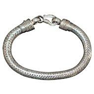 Heavy Man's Sterling Silver Bali Bracelet - 1980's