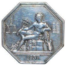 French Silver Octagonal Jeton - 1831