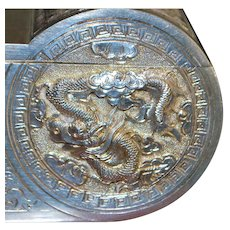Chinese Double Dome Silver Dragon Box