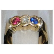 14k W.W.II Patriotic Ring - 1940's