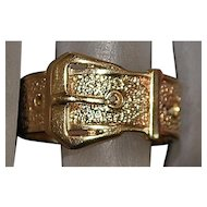9K r/g Victorian Large Buckle Ring - 1890
