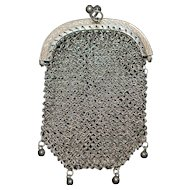 French Silver Chatelaine Coin Purse - 1900