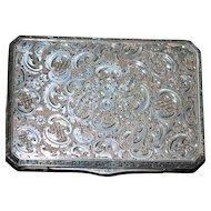 Czech 900 Silver Engraved Box - 1920's