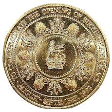 British Royal Opening of Buckingham Palace Bronze Medal - 1993