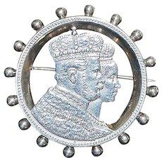"German States One Thaler Silver ""Wedding"" Brooch - 1861 -A"