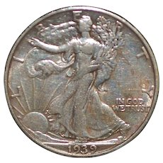 United States Walking Liberty Half Dollar Coin - 1939 - S