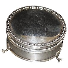 English Edwardian Sterling Silver Jewelry Box - 1909