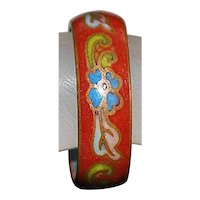 Chinese Floral Cloisonne Enamel Ring - 1920's