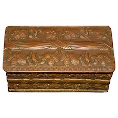 French Copper and Brass Box - 1880's