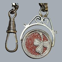 Arts & Crafts Mixed Metal Watch Chain - 1915