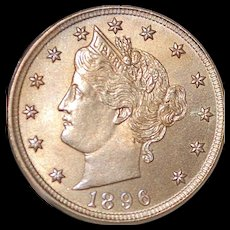United States 5  Cents Liberty Nickel - 1896 - MS - 63