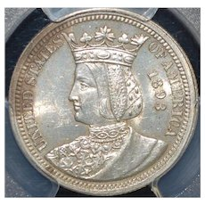 "United States Columbian ""Isabella"" Quarter Dollar - 1893"