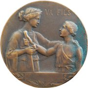 French Bronze Medal - Son Off To War
