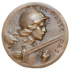 "French Bronze Medal""Battle of Verdun"" - 1916"