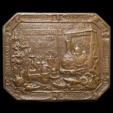 French Bronze Medal by Hippolyte LeFebvre - 1911