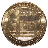 Golden Gate International Exposition Medal - 1939