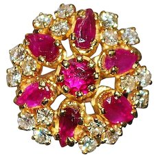 14K Fine Ruby and Diamond Ring