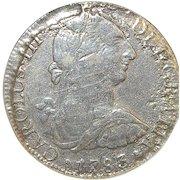 "Shipwreck ""El Cazador"" 8 Reale Silver Coin - 1783"