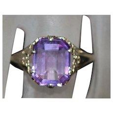 14K w/g Lavender Amethyst Filigree Ring - 1910