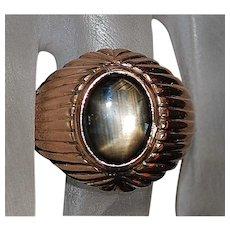 14K r/g Black Star Sapphire Ring - 1960's