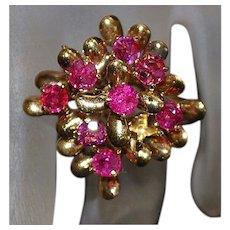 18K Ruby Ring - 1960's
