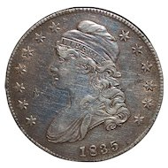 United States Silver Capped Bust Half dollar - 1835