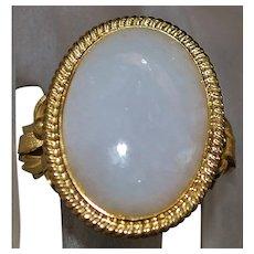14K Large Lavender Jade Ring - 1960's