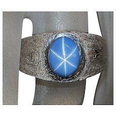 14K w/g Blue Star Sapphire Ring