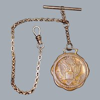 Gold Fill Watch Chain with Fob - 1920