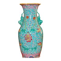 Chinese 19th C Famille Rose Vase