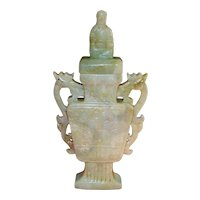 Old Chinese Jade Covered Urn - 1920